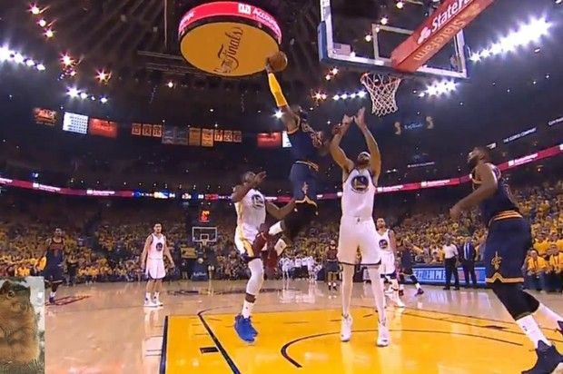 LeBron James Dunks All Over Javale McGee During Game 1 Of The NBA Finals
