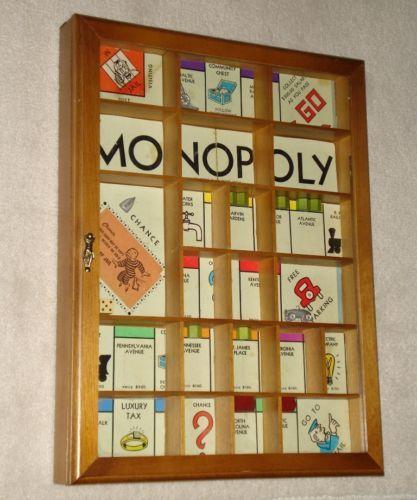Hand Made Vintage Monopoly Game Shadow Box Board Game Pieces Unique Folk Art | eBay