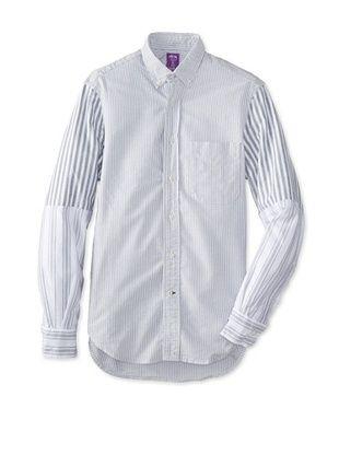 79% OFF Gitman Vintage Men's Striped Button Down Shirt (Grey)