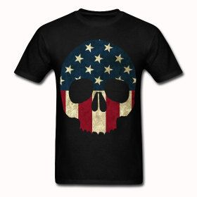 Perfect for Joel-American Skull T shirt by StuffoftheDead on Etsy, $24.00