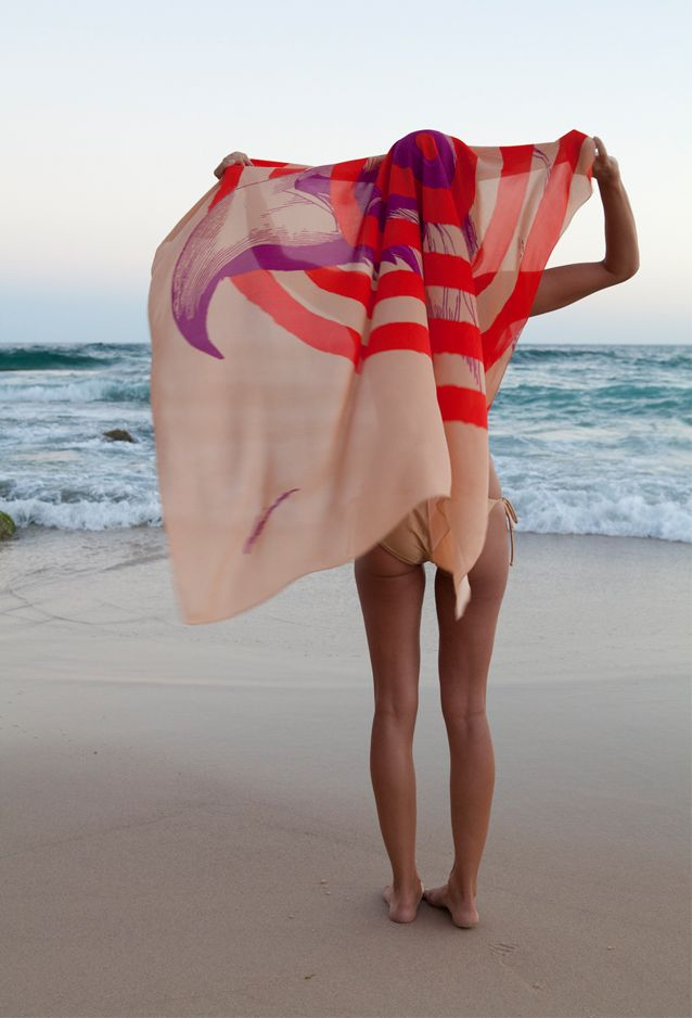 baye and fyfeSummer Scarves, Beach Style, Bays, Tropical Vacations, At The Beach, Sea, Beach Time, Silk Scarves, Head Scarf