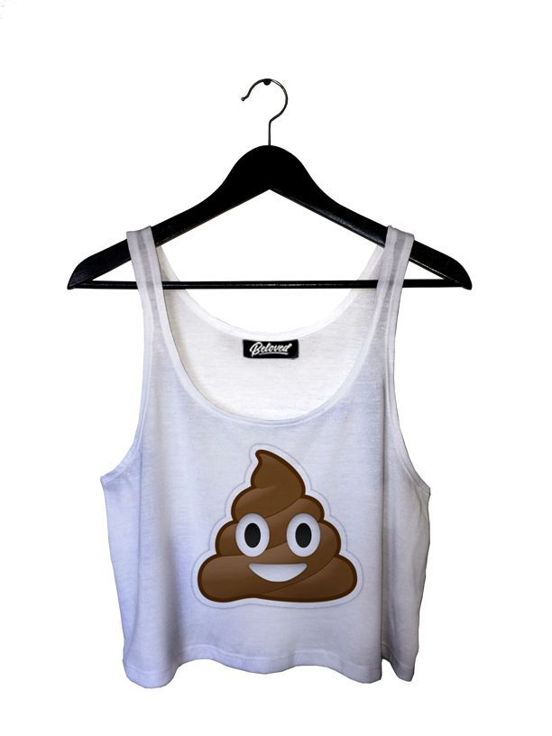 Poop Emoji Crop Top by Beloved Shirts