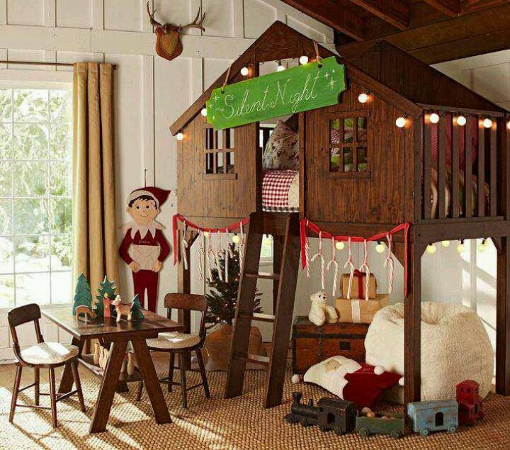 So adorable. Love Pottery Barn! Treehouse loft bed, Tree