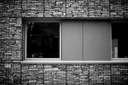 gabion window: small animal hospital - glasgow' by abbozzo