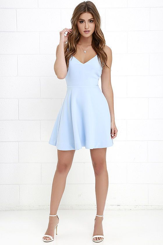 438050384508d Dandelion Days Periwinkle Skater Dress in 2019 | Womens Dresses For ...