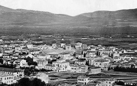 Πλατεία Ομονοίας, 1865 Λεπτομέρεια από το πανόραμα του Paul Baron des Granges. Συλλογή Θεόδωρου Θεοδώρου, Αθήνα
