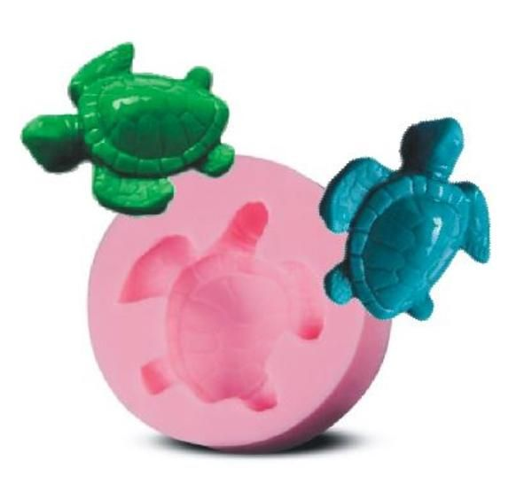 Cute Little Food Grade Mini Turtle Silicone mould, Small enough for fondant, large enough for guest soaps, embeds. From Renascent Bath Body