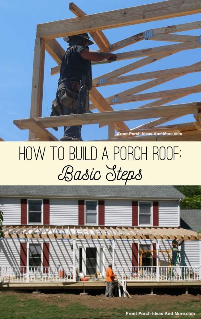 Building A Porch Roof Porch Roof Framing Porch Roof Deck Building Plans Building A Porch