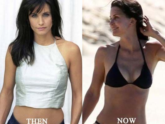 Courtney Cox Breast Implants Photo Before and After