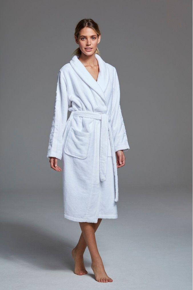 Womens Calvin Klein White Robe