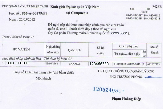 Visa pre-approval letter is a letter issued by Vietnam Immigration - pre approval letter