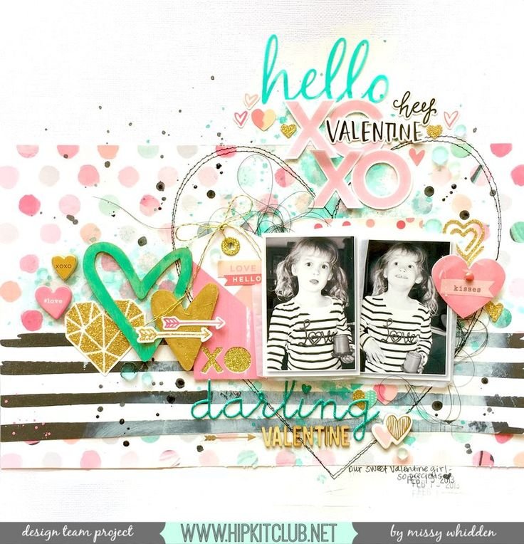 Hip Kit Club DT Project - 2016 January Hip Kits; Crate Paper, Heidi Swapp, Studio Calico, Shimmerz