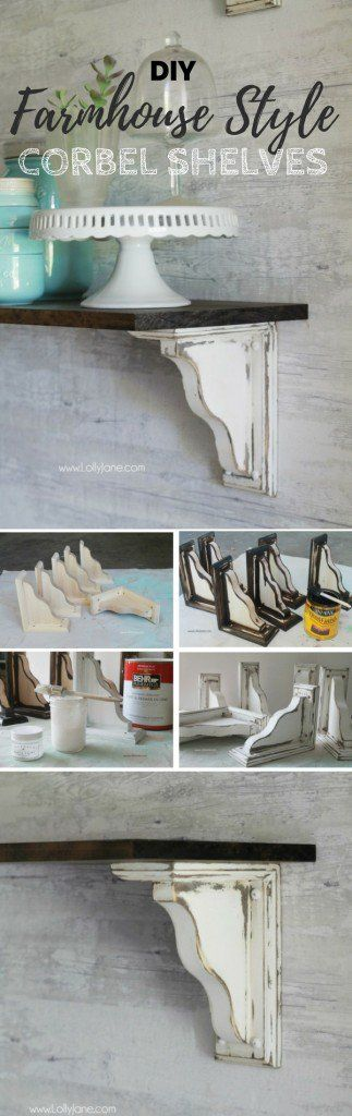 Check out the tutorial: #DIY Farmhouse Style Corbel Shelves @istandarddesign