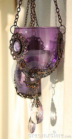 Purple candle holders ♥