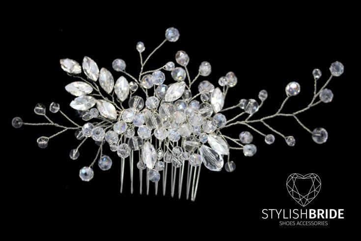 Wedding Crystal Hair Comb, Hair Wedding Comb, Wedding Hair Comb, Hair Accessories, Crystal Bridal Comb, Bridal Hairpiece by StylishBrideAccs on Etsy