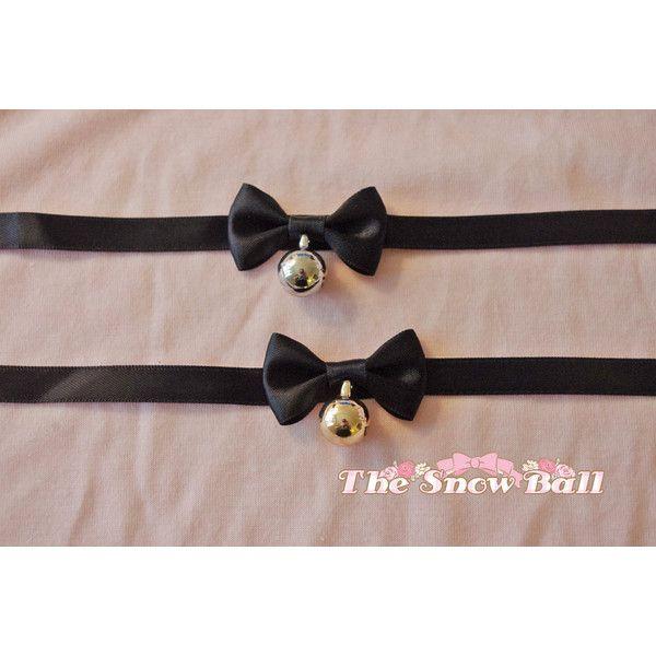 Lolita kawaii kitten maid bowtie bell ribbon choker necklace cute girl... (335 INR) ❤ liked on Polyvore featuring jewelry, necklaces, choker necklace, ribbon necklace, ribbon choker necklace, choker jewelry and ribbon choker