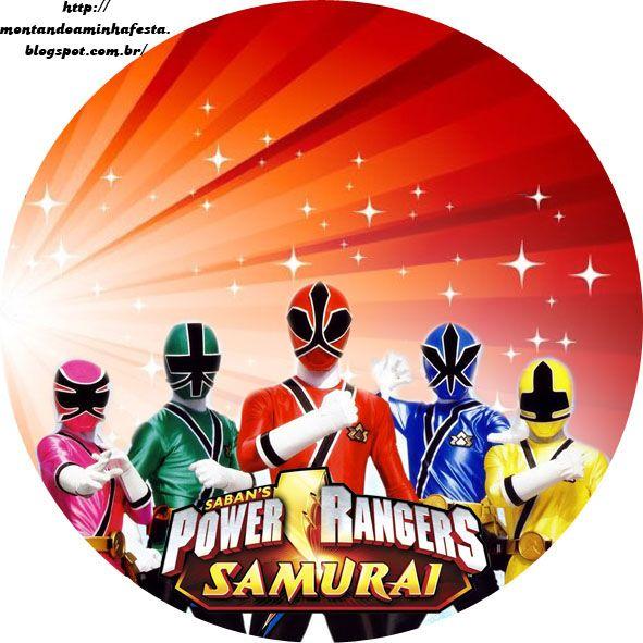 Kit digital para impressão Power Rangers Samurai