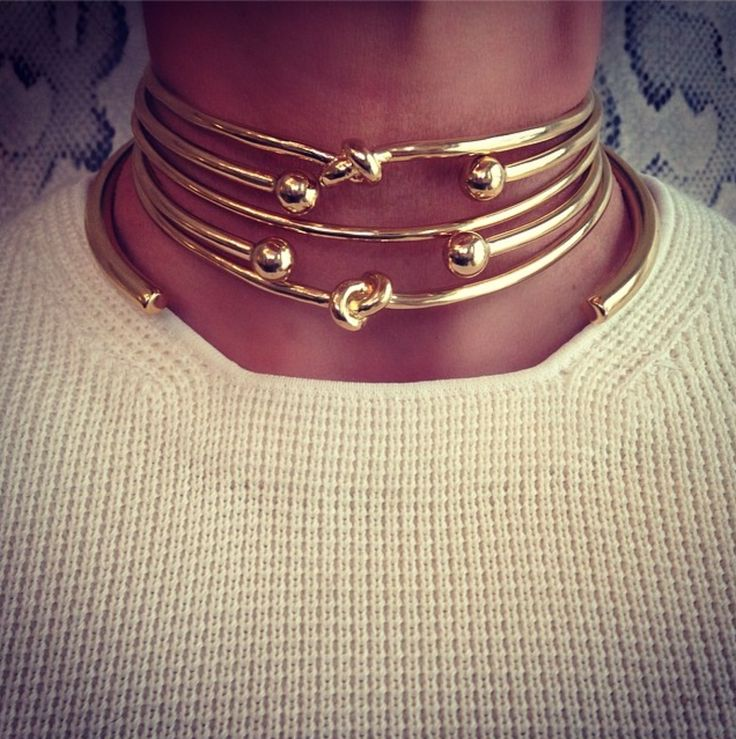 Stacking Jennifer Fisher chokers