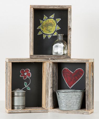 Another great find on #zulily! Chalkboard Shadow Boxes - Set of Three #zulilyfinds