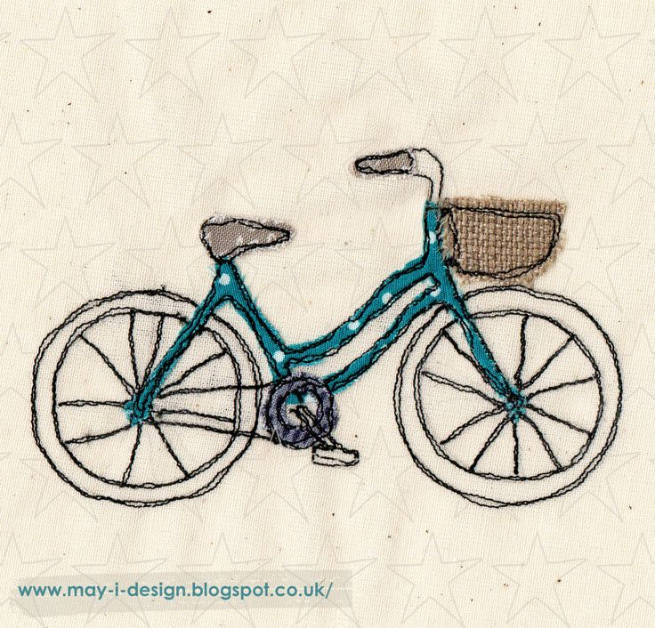 spring into design day 30 bike ride  embroidered bike   http://may-i-design.blogspot.co.uk/2015/03/spring-into-design-day-thirty.html