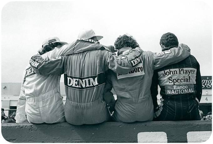 Nelson Piquet, Nigel Mansell, Alain Prost, Ayrton Senna. F1 Legends