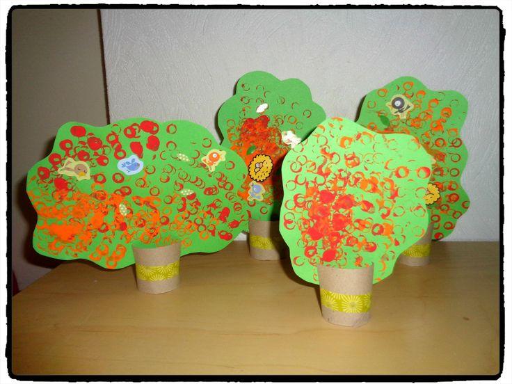 foret d'automne, arbre en rouleaux de papier toilette, bricolage automne, enfants
