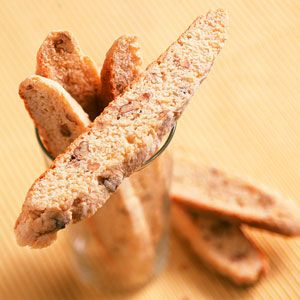 What to do with those over-ripe bananas....Banana Nut Biscotti...Made these last night, didnt have pecans so I used sliced almonds...Sooo Yummy!