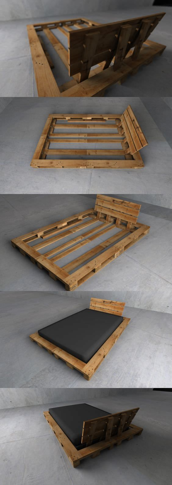 Single pallet bed frame - 62 Creative Recycled Pallet Beds You Ll Never Want To Leave Page 6 Of 6