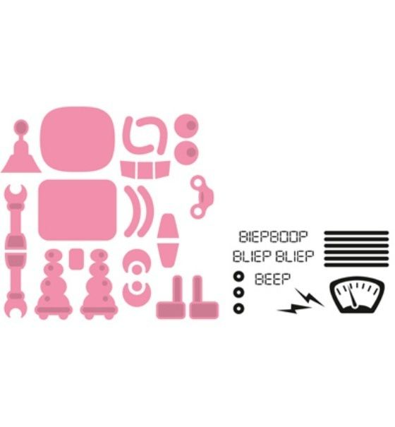 *Roboter*Collectables*14 Stanzen*6 Stempel*Basteln*Scrapbooking*Kartengestaltung*Einladung*Glückwunsch*Geburtstag*Party