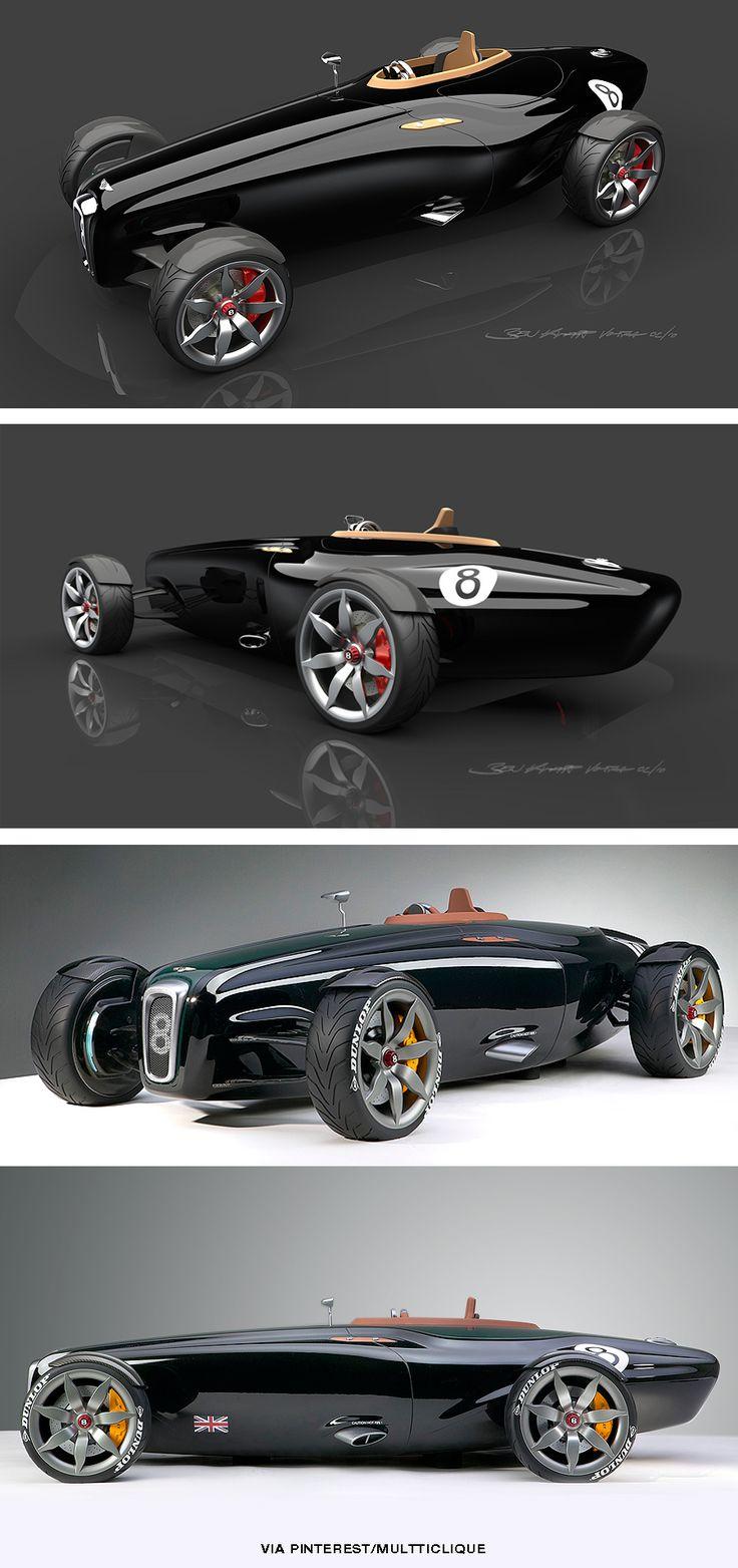 TresorsDuMonde.ca partage: Le designe de la Bentley Barnato Roadster fait penser au voiture de course original de la marque !
