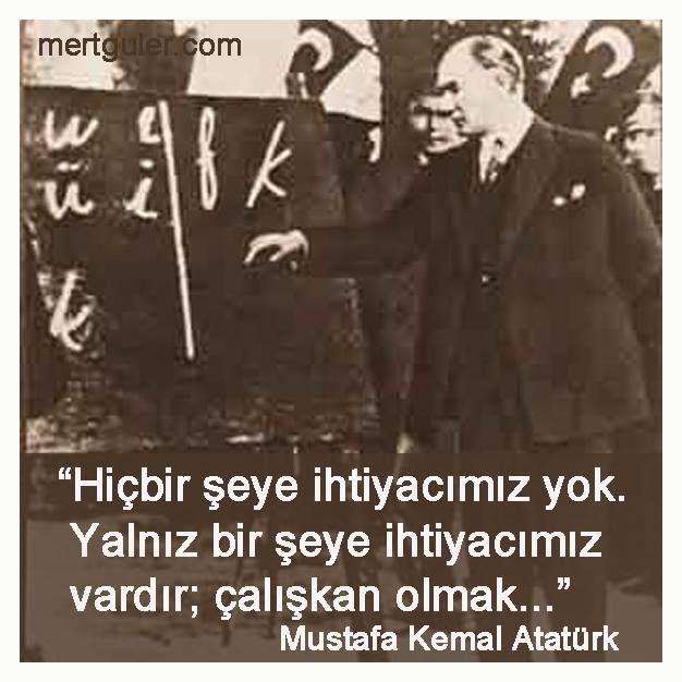 Yeni bir Eğitim-Öğretim yılı daha başlıyor, tüm öğrencilerimize zihin açıklığı diliyoruz.. :)  Hiçbir şeye ihtiyacımız yok. Yalnız bir şeye ihtiyacımız vardır; Çalışkan olmak... Mustafa Kemal Atatürk