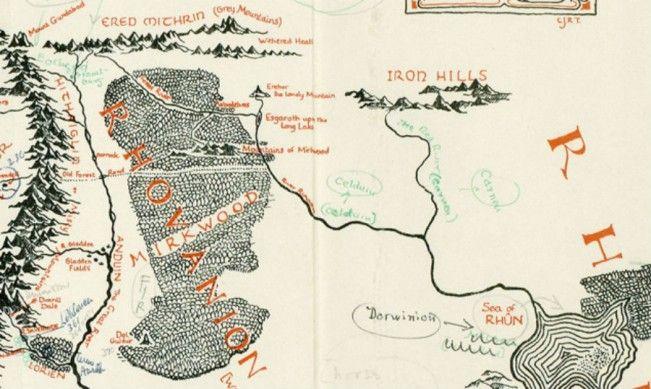 Une carte de la Terre du Milieu annotée par J.R.R. Tolkien a été retrouvée.