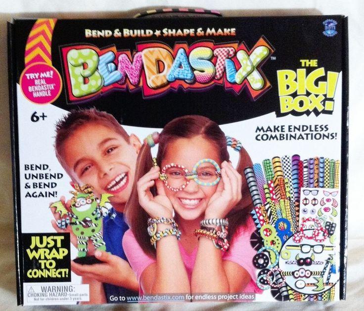 Bendastix The Big Box Kids Kraft Bend Build Shape 93 pieces + Instructions NEW #Bendastix