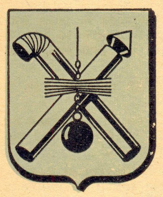 Vintage French chimney sweeper crest!