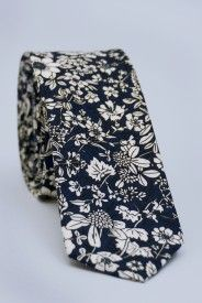 Funky Floral Tie - Navy