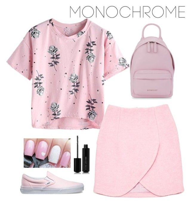 """""""pretty pink"""" by roselie1405x on Polyvore featuring Carven, Vans, Marc Jacobs and Givenchy"""