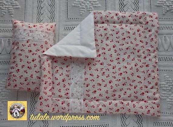 OOAK Reversible doll comforter doll pillow doll bedding