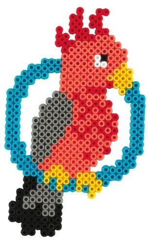 Parrot hama beads - Hama 3137 kit