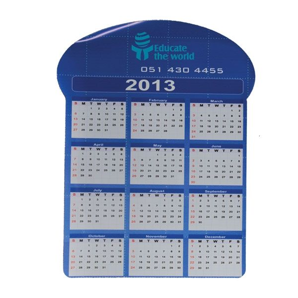 Calender Magnet Product Size: 161w x 208h Branding: Digital Print Material: Magnet