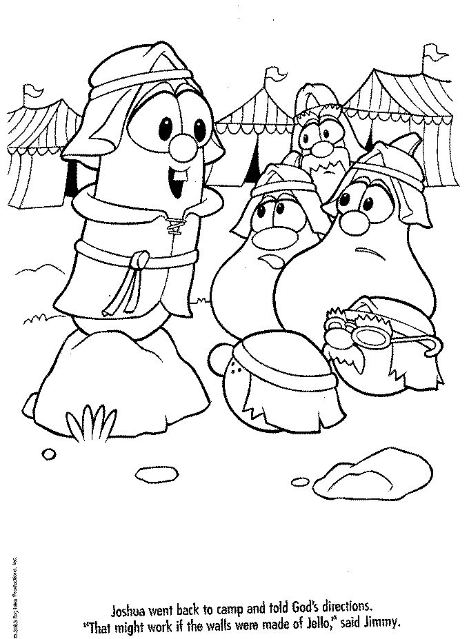 printable veggie tales coloring pages