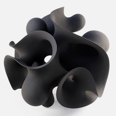 Loving the ceramic sculptures by artist Eva Hild.