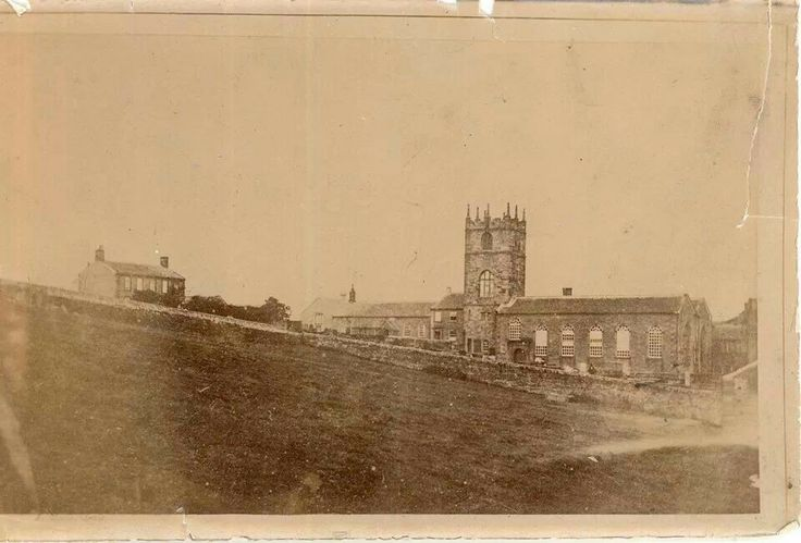 On April 4th, 1855, Charlotte Bronte was carried the short distance from the Parsonage to her father's Chuch and was buried in the vault beneath the church floor. (Courtesy of the Bronte Parsonage Museum)