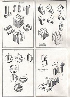 magic cube solutions wooden puzzles solution 3D brain teasers jigsaw puzzle