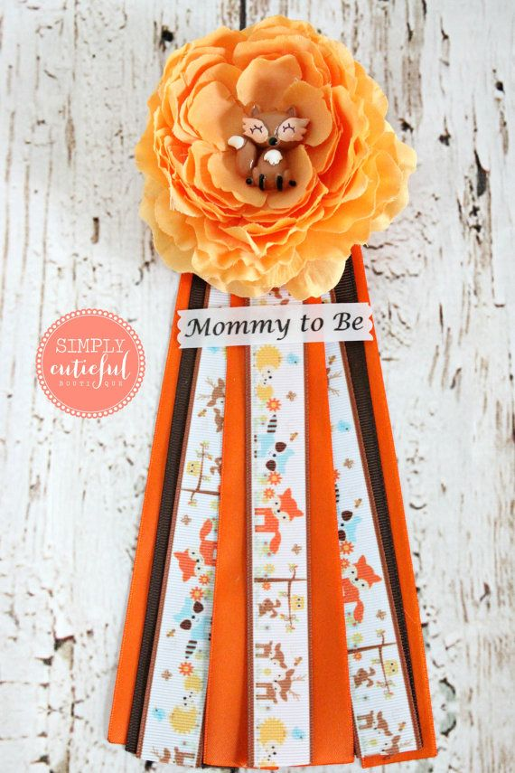Hey, I found this really awesome Etsy listing at https://www.etsy.com/listing/235863122/fox-mommy-to-be-pin-corsage-woodland