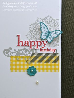 Stampin' Up ideas and supplies from Vicky at Crafting Clare's Paper Moments: Another Happy Day with washi tape!