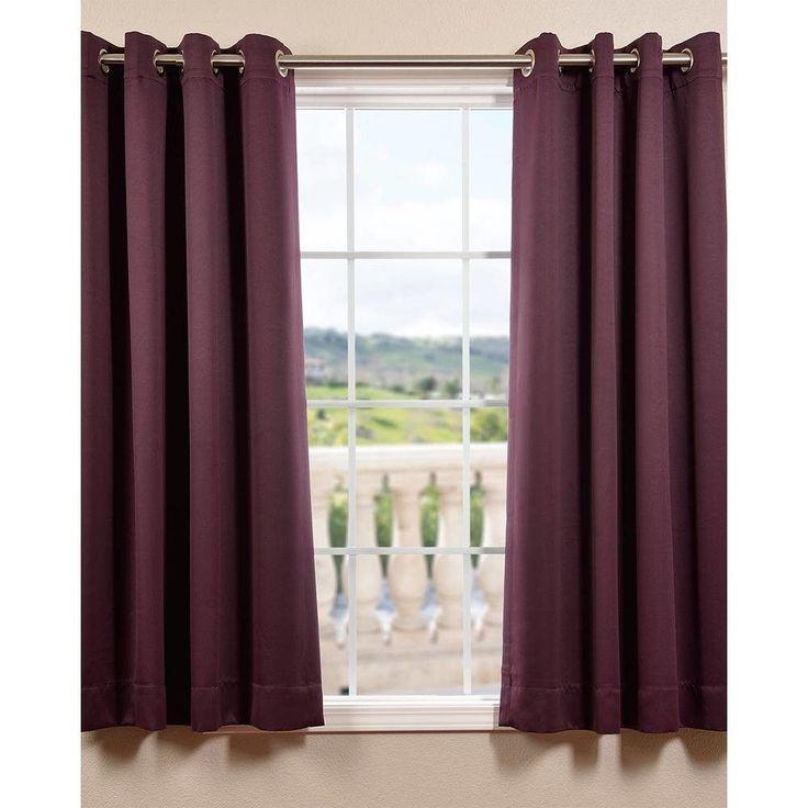 Plush Grommet Blackout Curtain Panels