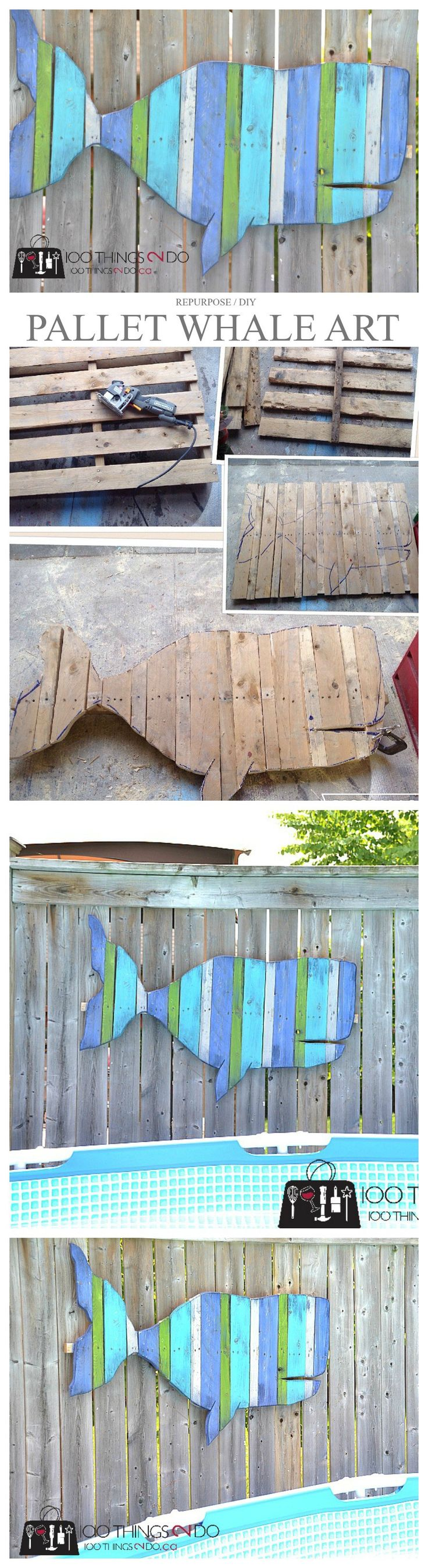 Top 25 best fence board crafts ideas on pinterest wood board pallet projects fence art whale more baanklon Images
