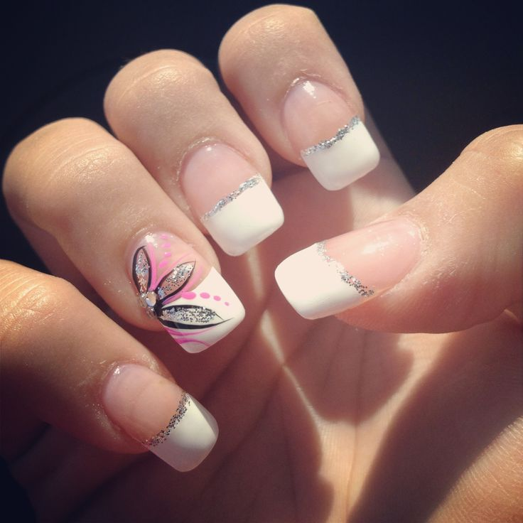 Cute White Tip Nails: Nails, French Tip, Design