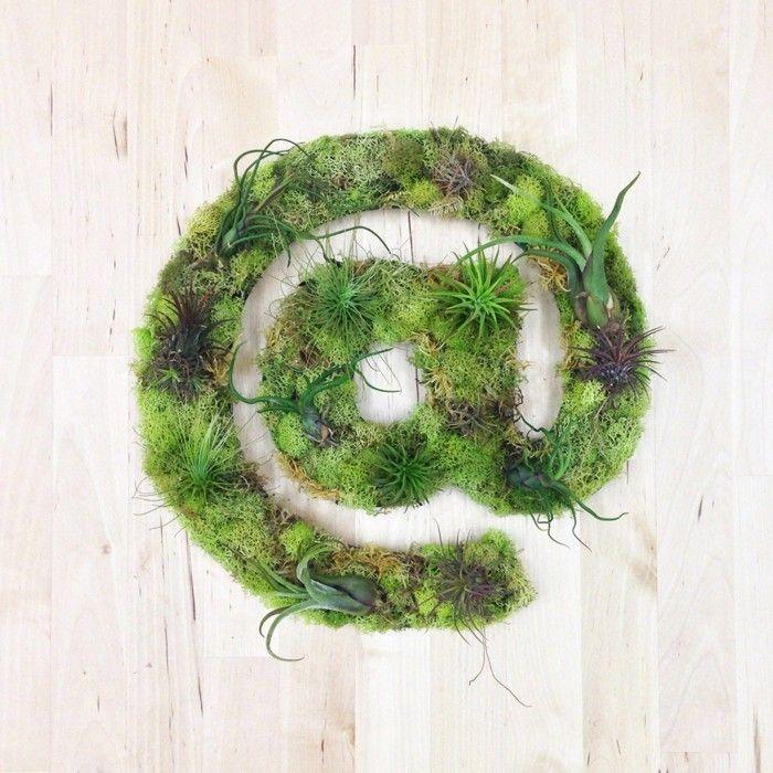 ▷ Wanddeko selber machen - eine künstlerische Dekorationsidee mit Moos