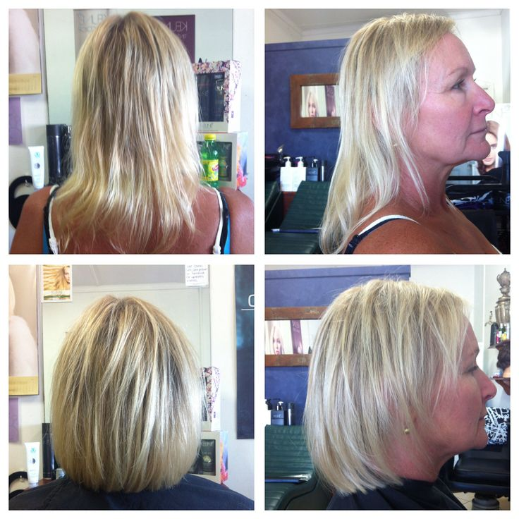 Before and after photo.Hair by Kylie,Cosmic Cuts,Georgetown